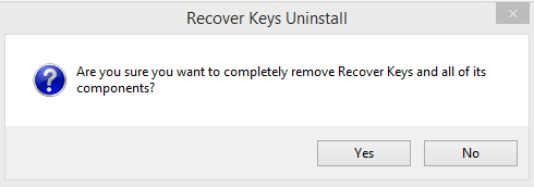 Recover Keys uninstall question